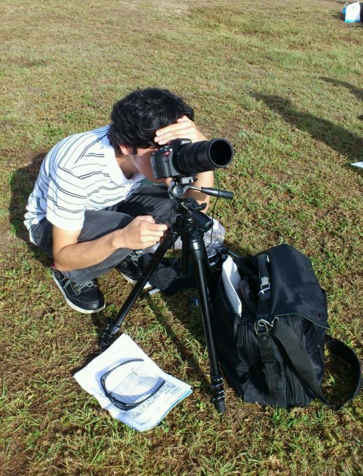 Me observing solar eclipse